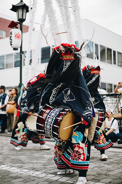 舞川鹿子躍 伝統芸能 京屋染物店
